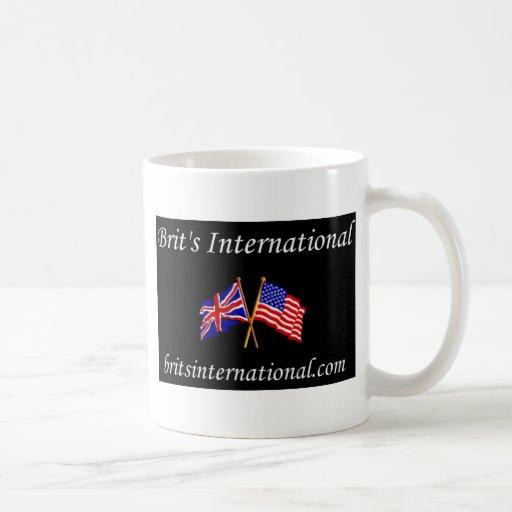 Británicos internacionales en negro taza