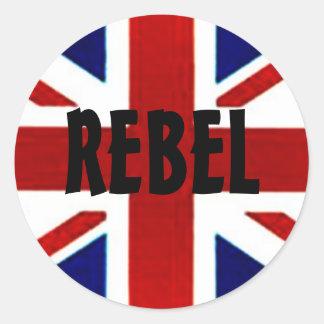 Británicos/pegatina REBELDE de Union Jack