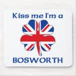 Británicos personalizados me besan que soy Boswort Alfombrillas De Raton