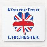 Británicos personalizados me besan que soy Chiches Alfombrilla De Ratón