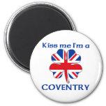 Británicos personalizados me besan que soy Coventr Imán Para Frigorifico