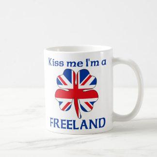 Británicos personalizados me besan que soy Freelan Taza