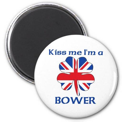 Británicos personalizados me besan que soy gloriet imán redondo 5 cm