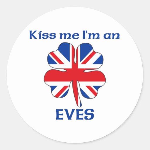 Británicos personalizados me besan que soy pegatina redonda
