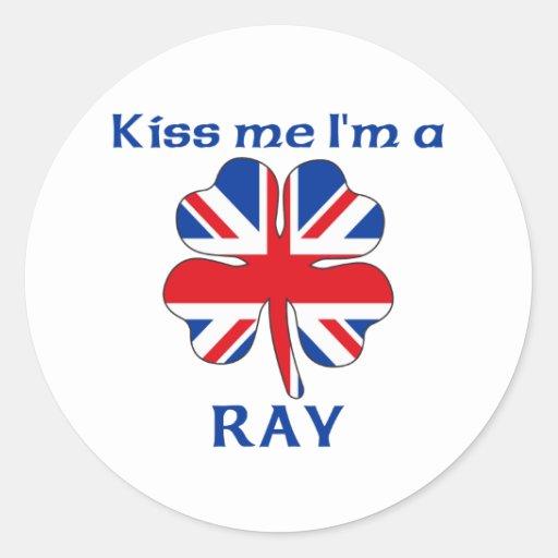 Británicos personalizados me besan que soy rayo pegatina redonda