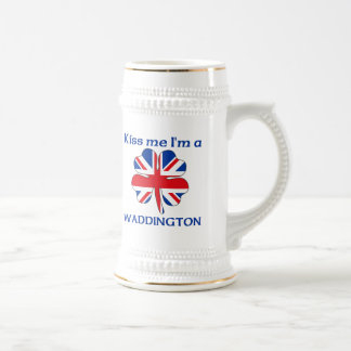 Británicos personalizados me besan que soy Wadding Taza De Café