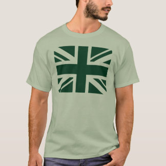 Británicos que compiten con Union Jack verde Playera