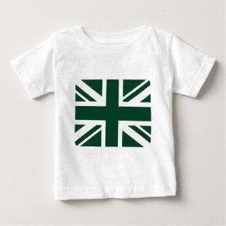 Británicos que compiten con Union Jack verde Playera De Bebé