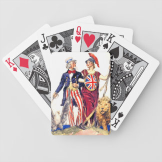 Britannia and Uncle Sam Bicycle Playing Cards
