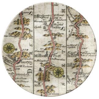 Britannia Depicta (Plymouth) Plato De Cerámica