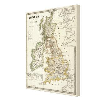 Britannia e Hibernia Impresión En Lienzo