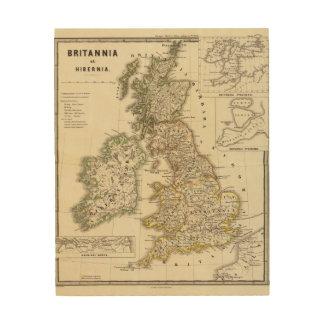 Britannia e Hibernia Impresiones En Madera