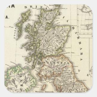 Britannia e Hibernia Pegatina Cuadrada