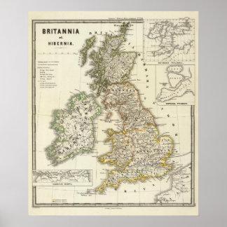 Britannia e Hibernia Póster