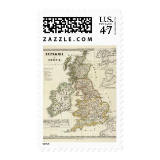 Britannia e Hibernia Sello Postal