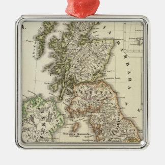 Britannia et Hibernia Metal Ornament