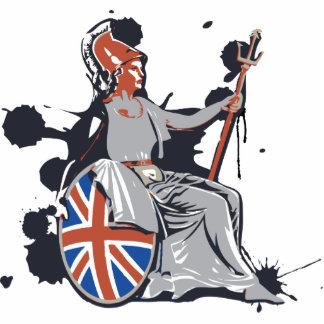 Britannia Standing Photo Sculpture