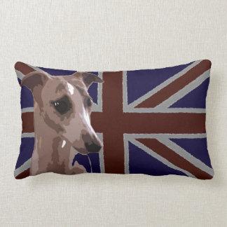 Britannia series: Buddy the whippet Lumbar Pillow