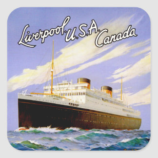 ~ Britannic Liverpool, los E.E.U.U., Canadá Colcomanias Cuadradases