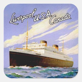 Britannic ~ Liverpool, USA, Canada Square Sticker