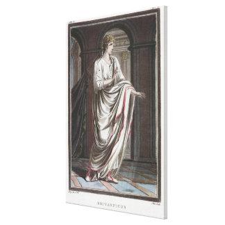 Britannicus, costume for 'Britannicus' by Jean Rac Canvas Print