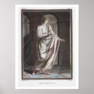 Britannicus, costume for 'Britannicus' by Jean Rac Poster