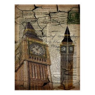 Britian England london clocktower big ben Postcard