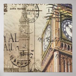 Britian England london clocktower big ben Poster