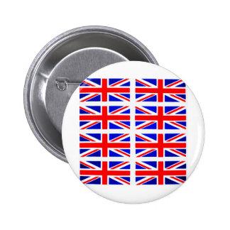 BRITIAN FLAG 2 INCH ROUND BUTTON
