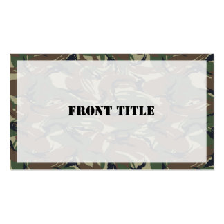 British 95 Forest Green Camouflage Business Card