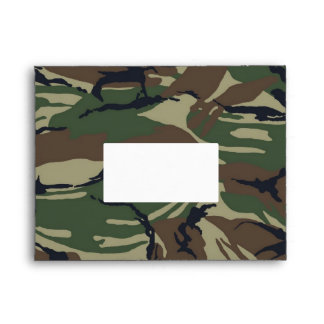 British 95 Forest Green Camouflage Envelope
