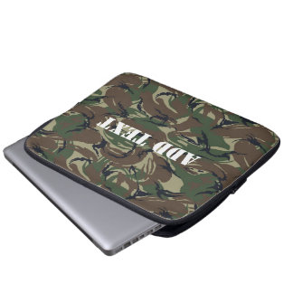 British 95 Forest Green Camouflage Laptop Computer Sleeve