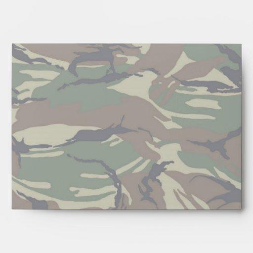 British 95 Forest Green Camouflage - Lightened Envelope