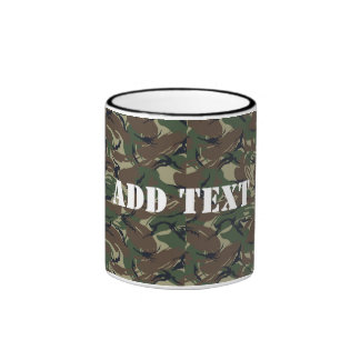 British 95 Forest Green Camouflage Coffee Mugs