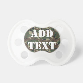 British 95 Forest Green Camouflage BooginHead Pacifier