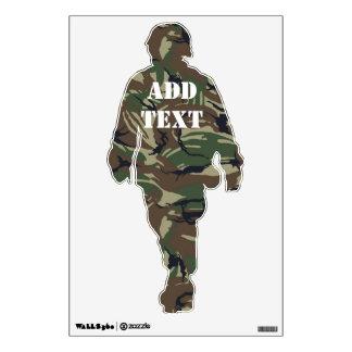 British 95 Forest Green Camouflage Wall Sticker