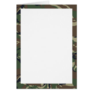 British 95 Forest Green Camouflage With White Card