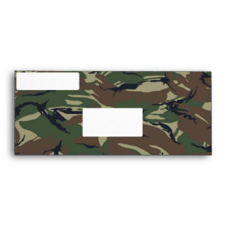 British 95 Forest Green Camouflage With White Envelope