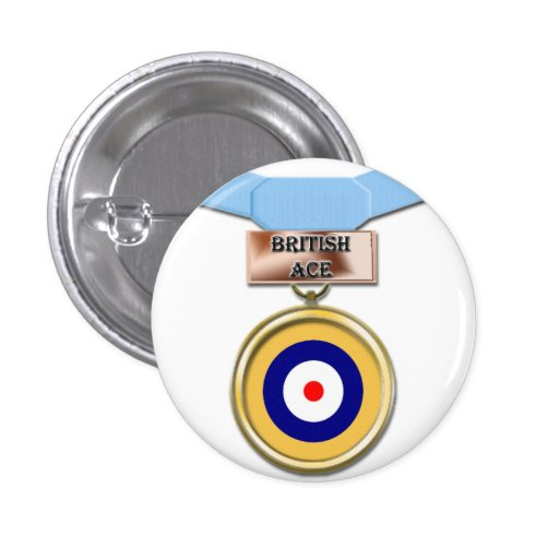 British Ace medal button