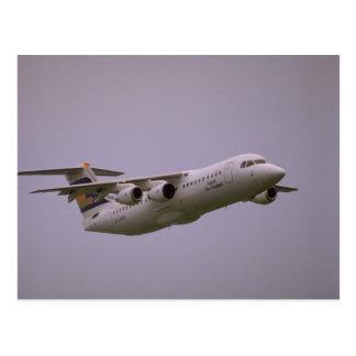 British Aerospace 146 Whisperjet taking off, Biggi Postcards
