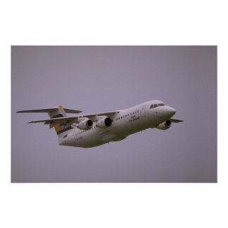 British Aerospace 146 Whisperjet taking off, Biggi Poster