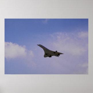 British Aerospace/Aerospatiale Concorde in flight, Posters