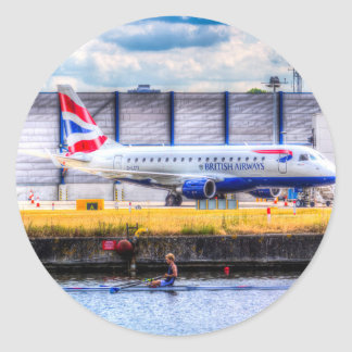 British Airways and Single Scull Round Sticker