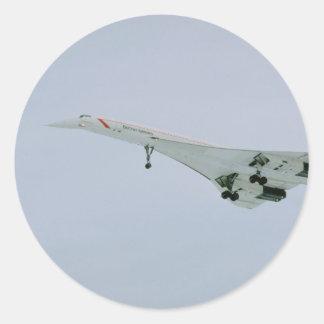 British Airways Concorde en la pendiente final, Pegatina Redonda