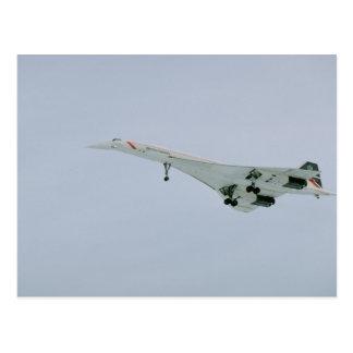 British Airways Concorde on final descent, Ottawa, Postcard
