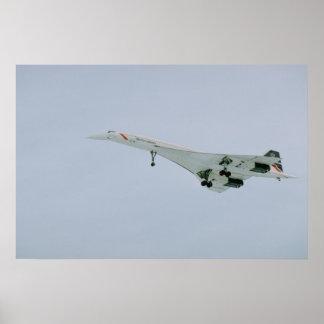 British Airways Concorde on final descent, Ottawa, Poster