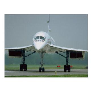 British Airways Concorde, on taxi way Postcard