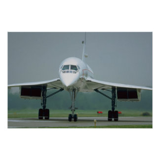 British Airways Concorde, on taxi way Poster