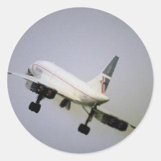 British Airways Concorde Pegatina Redonda