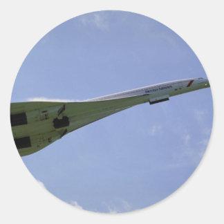 British Airways Concorde, sacando en Heathrow A Pegatina Redonda